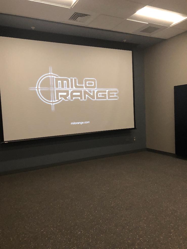Crogan tried out the simulated gun range, the Milo Range, on Shadow Day.   by Alex Crogan