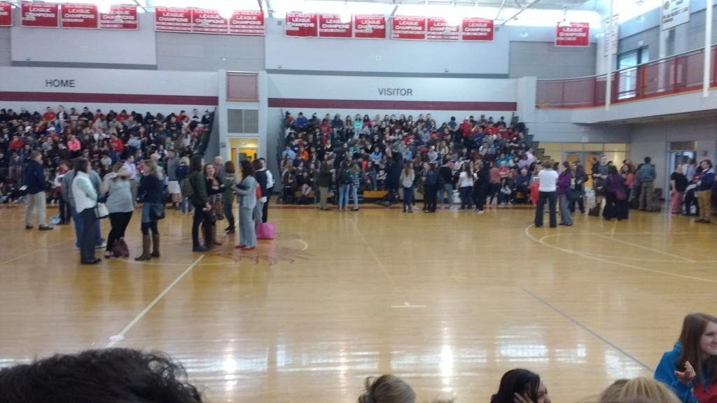 HHS+students+all+gathered+in+the+gym+during+the+lockdown.+They+were+told+to+%0Ashelter+in+place+for+close+to+an+hour+while+K-9+teams+swept+the+school.+%7C+by+Dakota+Antelman