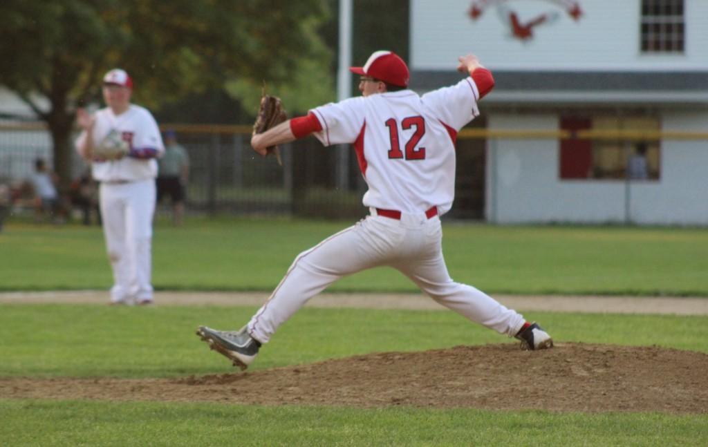 by Tess McDonald | Rosenthal pitches on Senior Night.