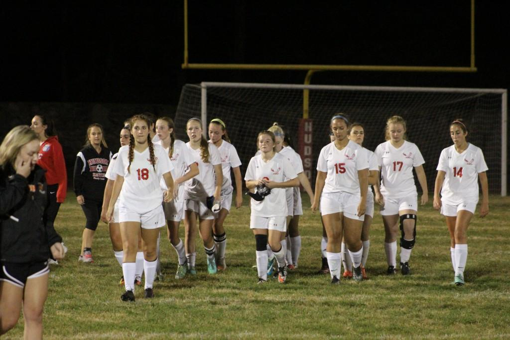 Girls varsity leaves the field after the first half with a 3-0 lead. / by Collin McMahon