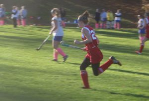 Beatty plays in the varsity game against Assabet on October 24. Assabet won the game, 4-2.