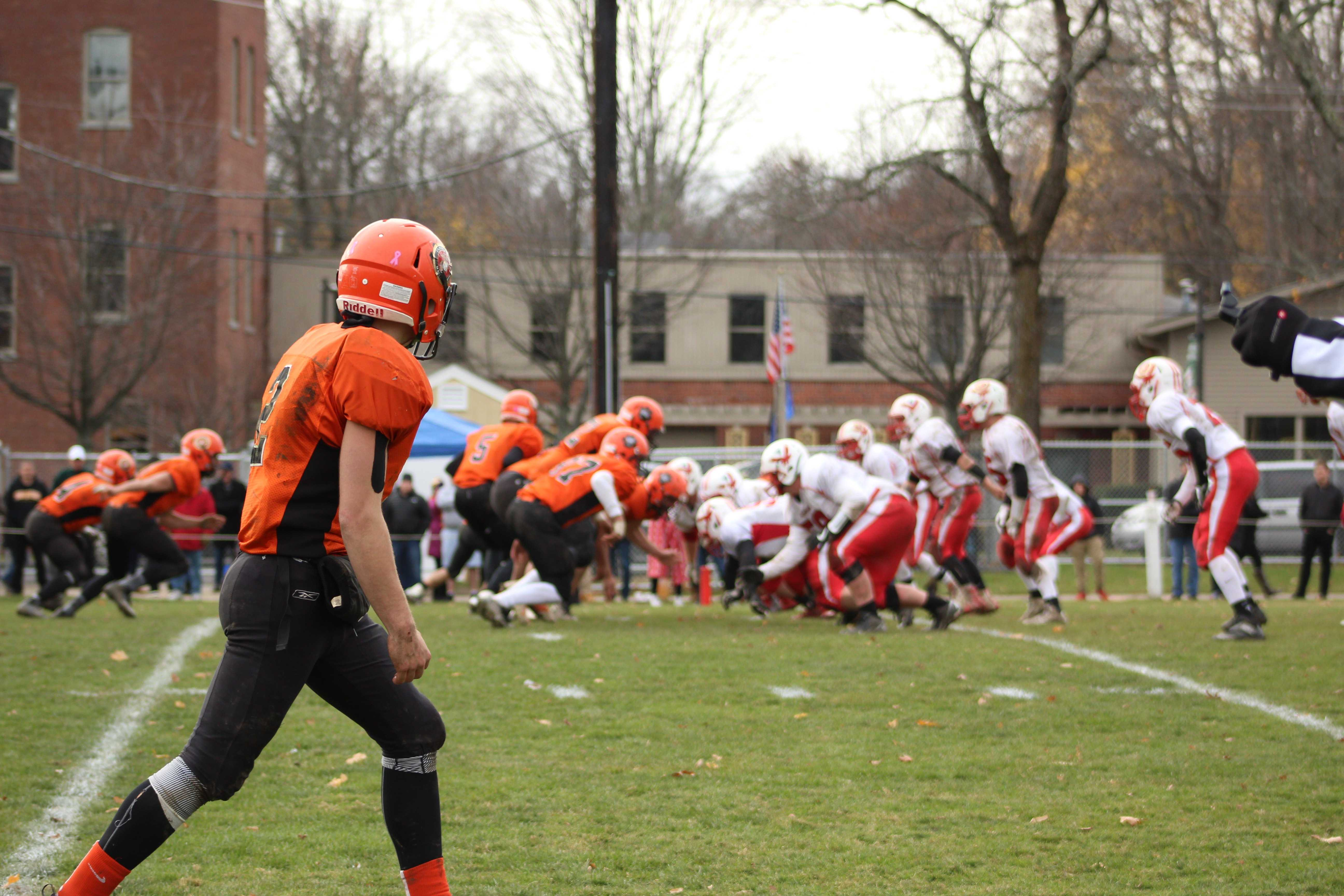 Panthers Blank Hawks; Football Loses Turkey Day Game, 44-0
