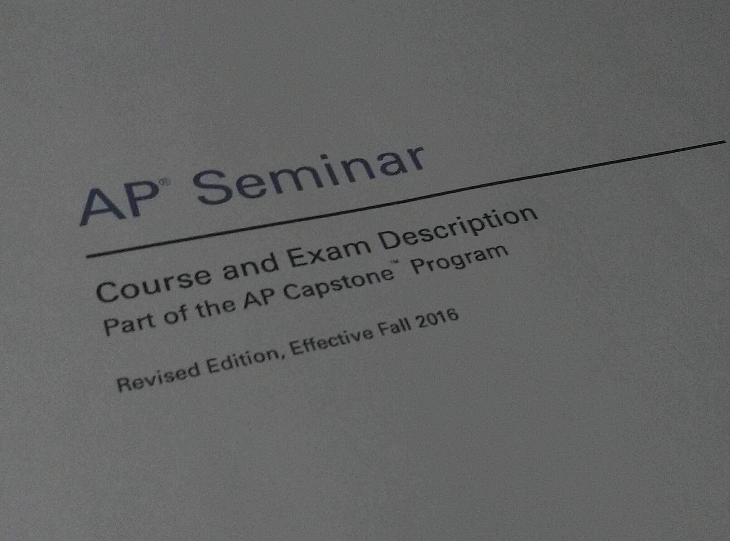 Successes and Struggles for AP Seminar During First Semester at HHS