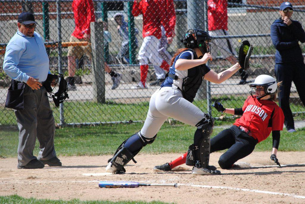 Ryann+Sawyer+slides+to+avoid+the+tag+of+Framingham+catcher+Kaitlin+Carman.+While+Sawyer+would+not+score+on+this+play%2C+she+did+score+twice+during+the+game+with+one+hit+and+two+walks.+%7C+by+Dakota+Antelman