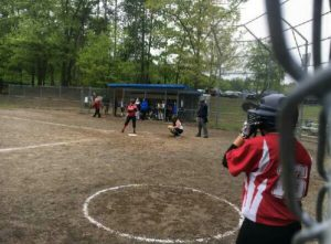 McKayla Shutt bats while a teammate looks on. | Submitted photo