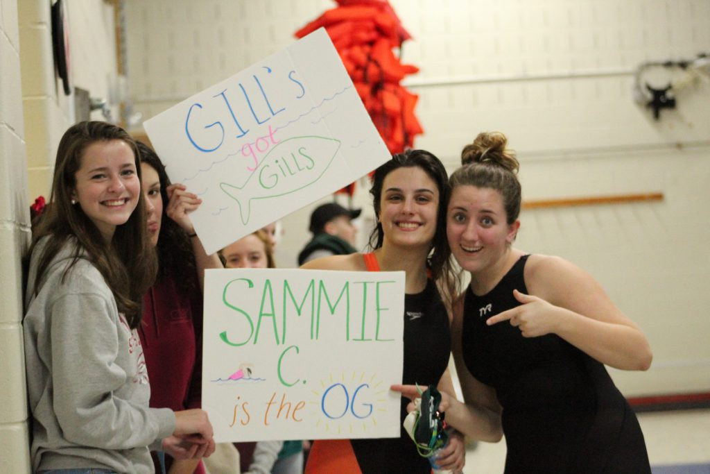 Swimming vs Bromfield Senior Night (Gallery)