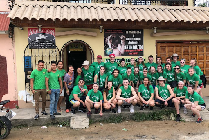 The 2018 Peru Crew pictured outside the animal shelter after dropping off two suitcases of supplies. | Submitted Photo