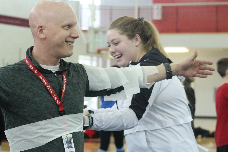 Teacher+Tim+Rienhardt+gets+wrapped+in+tiolet+paper+%7Cby+Brianna+Devlin