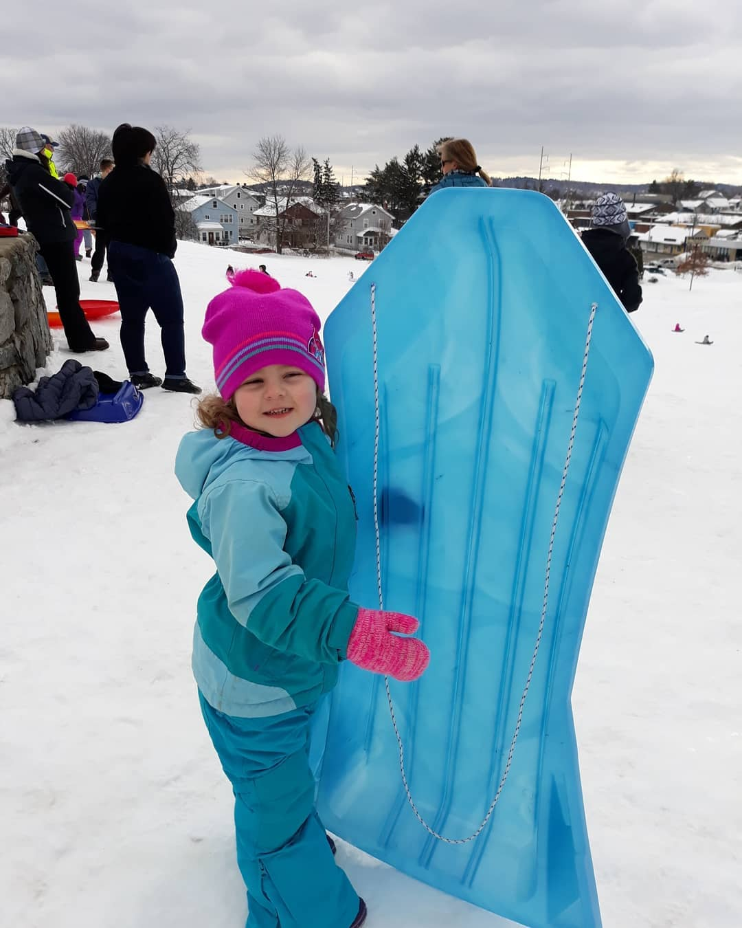 English+teacher+Jacqueline+Paton%27s+daughter+Samantha+Grace+enjoyed+her+first+sledding+day+of+the+2019+winter+season.