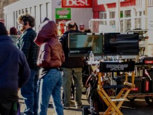 The crew set's up for an outdoor scene. | by Veronica Mildish