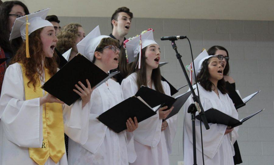 Graduates of Camerata sing