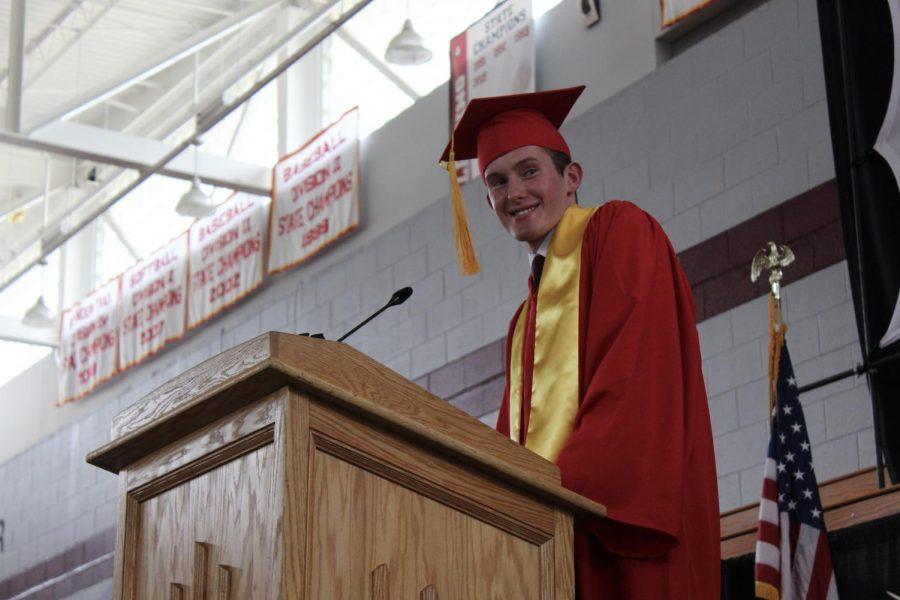 Valedictorian Sean Morton  by Isabel Thies