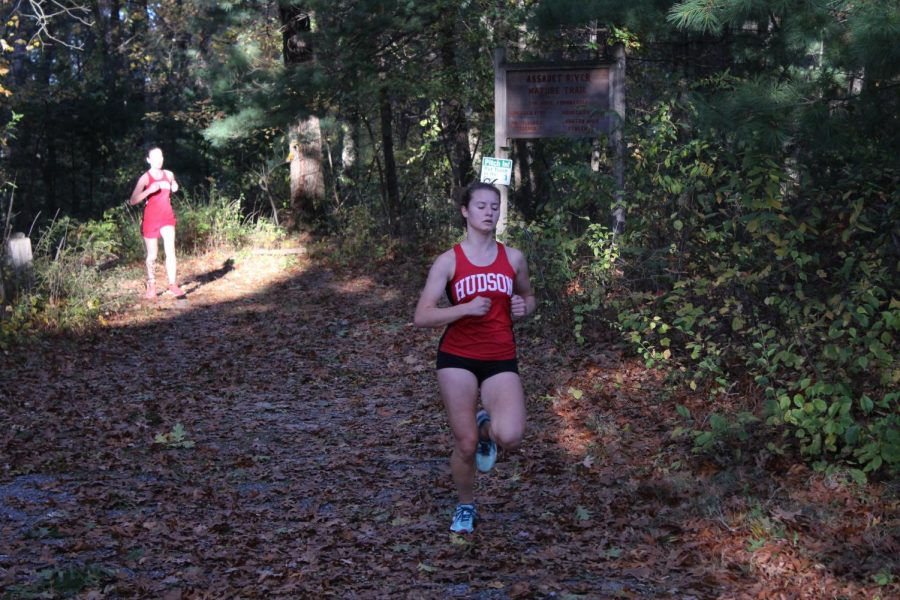 Nicole is a senior and a great runner, come in 3 for the team and 4th overall, gets a 20:40.