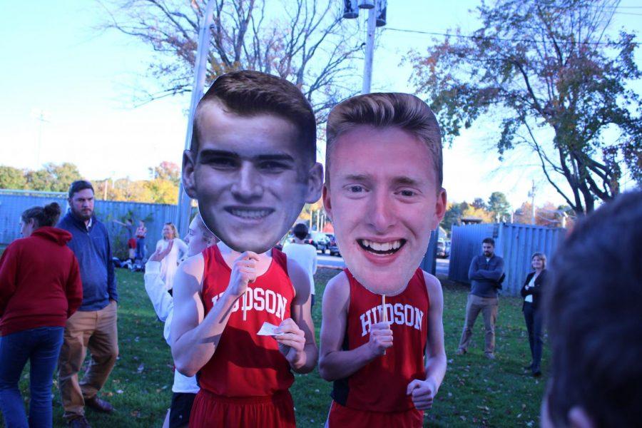 Cuddy and Mattocks Both graduating this year, celebrated with their senior night