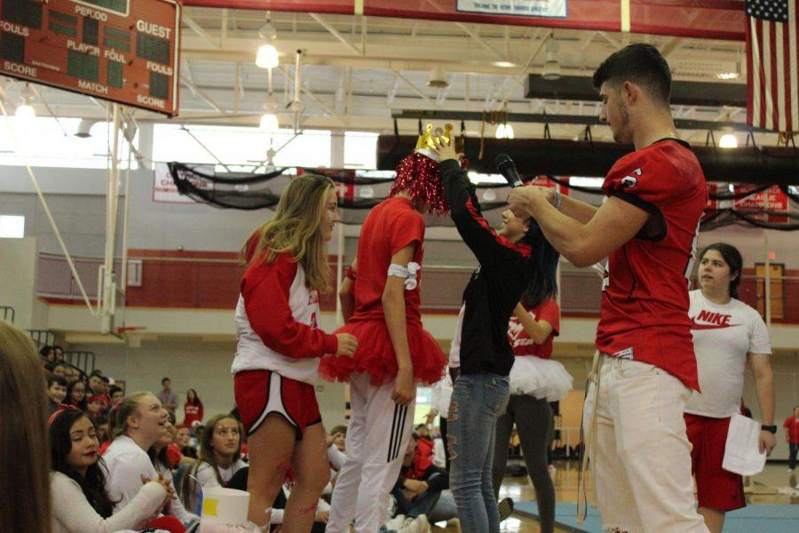 Freshman Ryan Moreira is crowned Spirit King for his grade