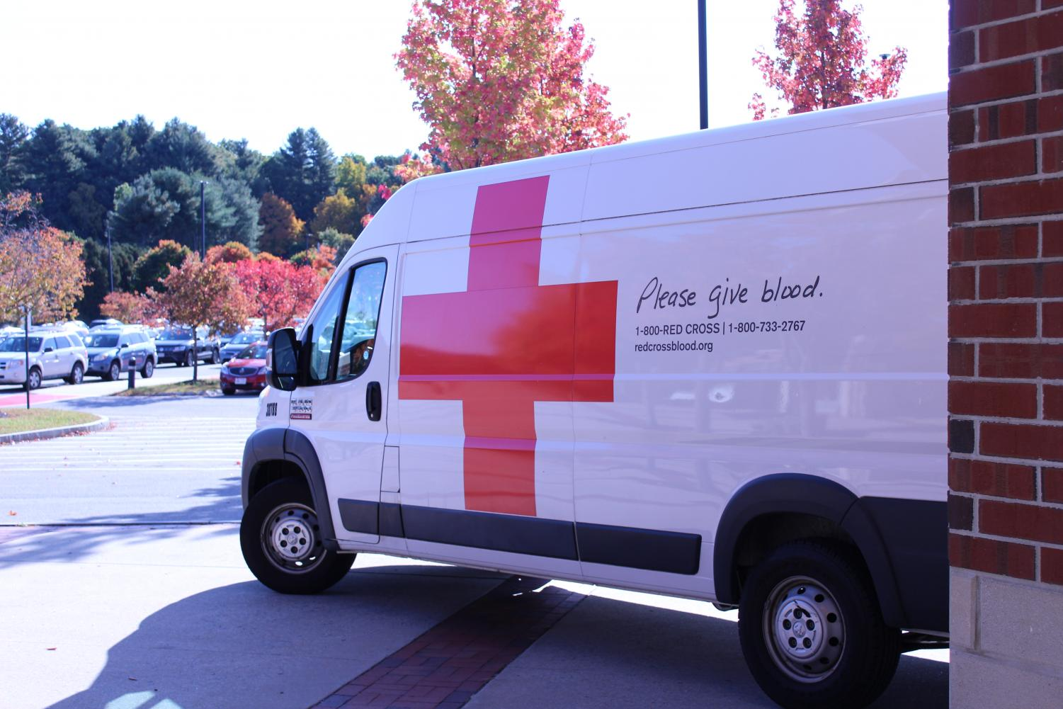 The Blood Mobile is parked near the gym | by Liana Melecio