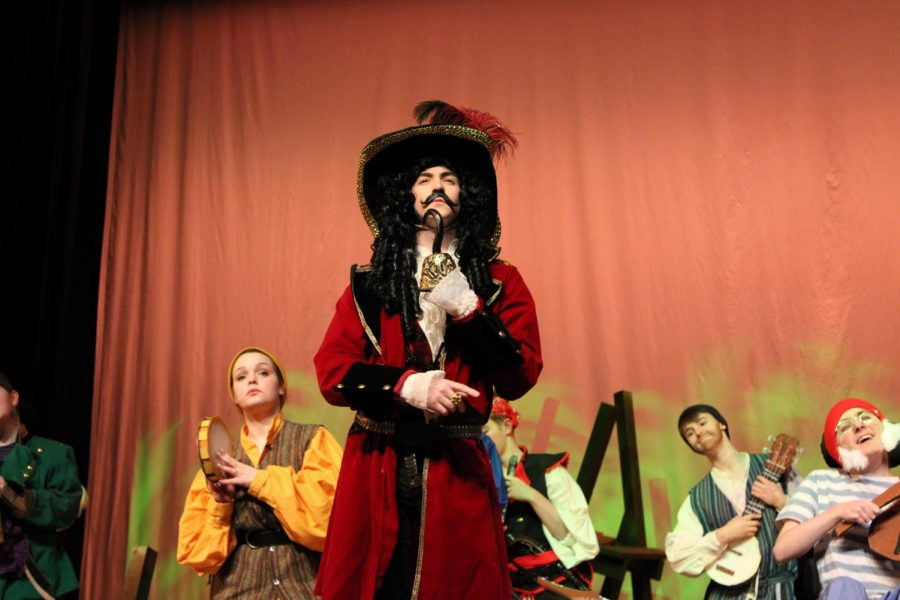 Captain Hook contemplates about Peter Pan |by Brianna Devlin