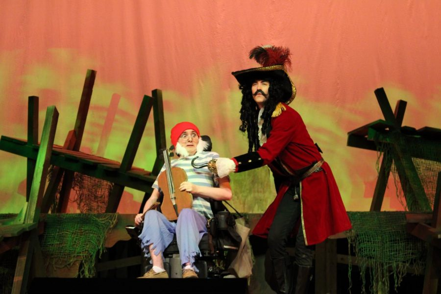 Captain Hook confides with Smee Jake Marrazzo) |by Brianna Devlin