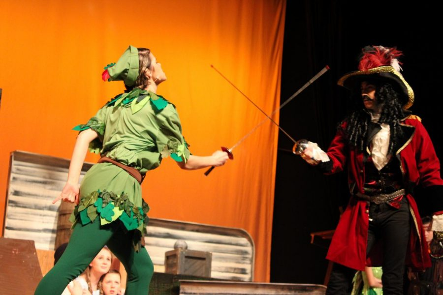 Peter Pan fights Captain Hook |by Brianna Devlin