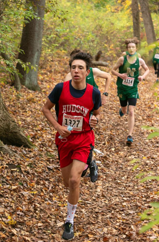 Firth+during+cross+country+%7C+photo+provided+by+Hudson+High+Yearbook