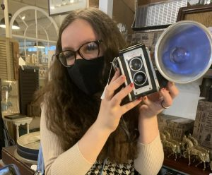 Senior Dania Mael on one of her usual antiquing stops to find treasures from the past | photo provided by Dania Mael