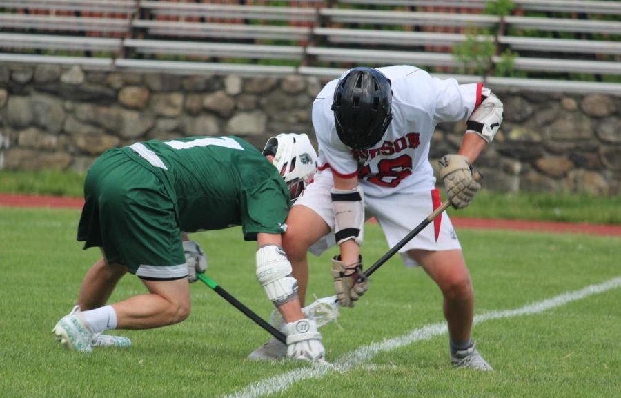 Tommy Billings (17) taking the draw during second quarter  by Brianna Devlin
