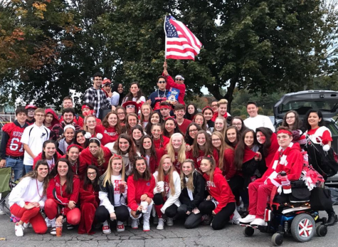 Class of 2021 gathered in the junior lot for a tailgate in October | photo by Lilla Gaffney