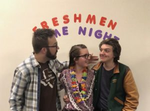 Shane McArdle, Julia Stukonis and Liam Kiernan pose together at Freshman Game Night | Photo Courtesy of Liam Kiernan