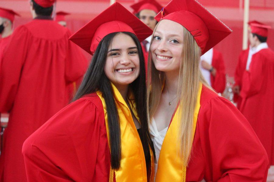 Senior class Secretary Emily Figurido and Ally Maki  by Brianna Devlin